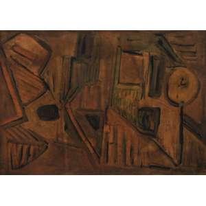 João Augusto<br />Guache sobre papel colado em placa<br />Assinado e datado 77 inferior direito <br />34 x 48 cm.<br />