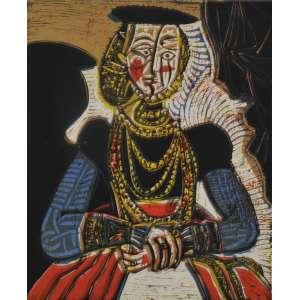 Pablo Picasso<br />Femme d`apres Cranache <br />Editor Cerclee d`Art - Paris 1962<br />Gravura em papel velin <br />Prova do artista inferior esquerdo<br />Assinada inferior direito <br />27 x 22 cm. <br /><br />Reproduzido no Raisonne 1959/1962<br />