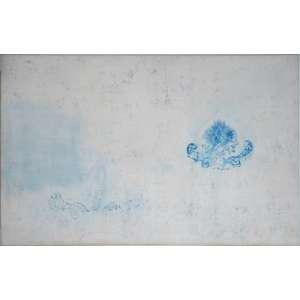 Adriana Rocha, Série paraísos, óleo sobre tela, assinado e datado 1999 no verso, 98 x 157 cm.<br />