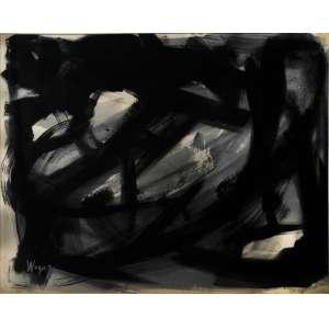 Wega Nery, guache sobre papel, assinado e datado 75 inferior esquerdo, 48 x 68 cm.