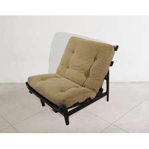 Martin Eisler & Carlo Hauner, Lounge chair, cadeira em madeira e estofado, década de 50, 68 x 70 x 86 cm.