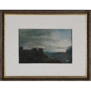L. Borim, Ubatuba, óleo sobre tela, assinado, datado 82 inferior direito Assinado, datado dezembro 1982 e situado Ubatuba no verso, 19 x 29 cm.<br />