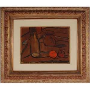 Aldo Bonadei, óleo sobre cartão colado em placa, assinado e datado 66 inferior esquerdo, 28 x 37 cm.