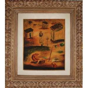 Orlando Teruz, Óleo sobre tela colado em madeira, assinado inferior direito, 61 x 50 cm.