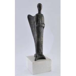 Victor Brecheret, Anjo, escultura em bronze, assinada, 45 x 17 x 17 cm.