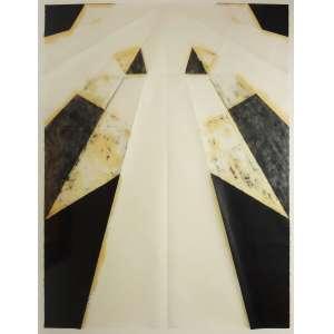 Carla Chaim<br />Sem título, da série Dobras Quebradas, 2012, bastão oleoso sobre papel Japonês, 130 x 100 cm.