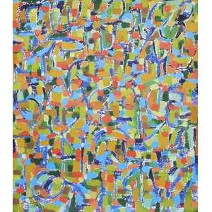 Cosme Martins <br />Acrílica sobre tela, assinado inferior direito, assinado e datado 2011 no verso, 150 x 125 cm.