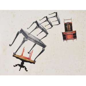Raquel Garbelotti<br />Apinhados, década de 90, copia xerográfica, assinada e titulada no verso, <br />21 x 27 cm. (sem moldura)
