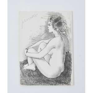 João Câmara<br />Figura feminina, gravura em metal, assinada superior esquerdo, no verso dedicatória a Oscar Cruz, assinado e datado 1985. <br />24 x 17 cm.