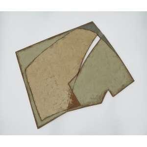 Manfredo de Souzanetto<br />7/91, Pigmentos e resina acrílica sobre tela, assinado e titulado no verso.<br />105 x 110 cm.