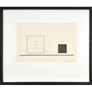 Almandrade<br />A obra e o sentido, 1977, nanquim sobre papel, assinado e datado inferior direito.<br />18 x 28 cm.