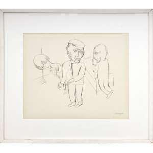 Lasar Segall<br />Sem título, litografia, assinado inferior direito. <br />43 x 54 cm.