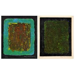 Franz Weissmann<br />Conjunto com 2 Guache s/ cartão, assinado e datado, 1969. <br />15 x 12,5 cm (cada), (sem moldura).