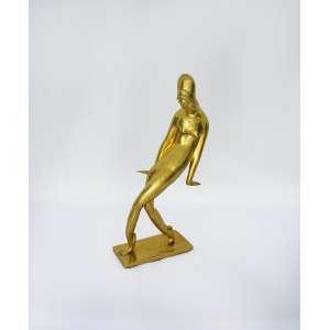 Victor Brecheret<br />Bailarina, década 1920, escultura em bronze polido, assinada e numerada, Nº 5962555 na base. sendo este o quarto exemplar de uma série de sete. <br />34 x 17 x 6,5 cm.