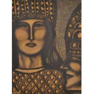 Farnese de Andrade<br />Sem título, nanquim sobre cartão colado em placa, assinado e datado 1974, inferior esquerdo.<br />70 x 50 cm.