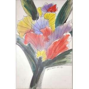 Aldemir Martins<br />Desenho a nanquim e aquarela sobre papel, assinado e datado 1986 / 1987, inferior direito.<br />57 x 38 cm.
