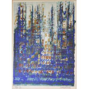 Manuel Cargaleiro<br />Serigrafia, assinada inferior direito e numerada P.A. 11/25, inferior esquerdo. <br />40 x 30 cm.