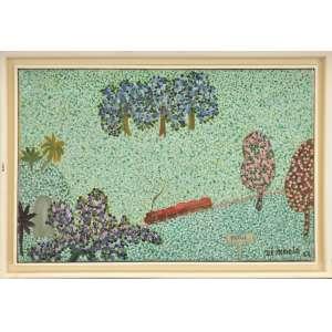 Zé Inácio <br />Tatuí, óleo sobre tela, assinado e datado 1969, inferior direito. <br />26,5 x 41 cm.