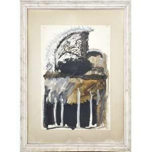 Artur Barrio <br />Nanquim e aquarela sobre papel, assinado e datado 1974, superior direito.<br />70 x 50 cm.