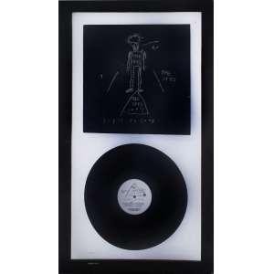Jean-Michel Basquiat <br />The Offs, 1984, capa e disco de Vinil, assinado no verso. Desenho original da capa feito por Jean-Michel Basquiat. <br />31 x 31 cm.