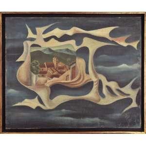 Walter Lewy<br />Surrelismo, óleo sobre tela, assinado e datado 1946 inferior direito. Participou da Retrospectiva: Do Modernismo a Bienal MAM-SP. Exposição: Os Salões 4ª mostra do ciclo de exposições de pintura brasileira contemporânea, no Museu Lasar Segall. <br />50 x 62 cm.