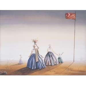 Santa Rosa <br />Baianas, Guache e aquarela sobre papel.<br />65 x 86 cm. Ex coleção Copacabana Palace.