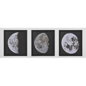 1896 Moon Photogravure Prints<br />Três Fotogravuras representando as primeiras fotos da Lua tiradas pelos astronomos franceses Maurice Loewy e Pierre Puiseux em 1896. <br />61 x 56 cm.