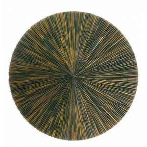 Marcos Coelho Benjamim<br />Mandala, Chapa de metal galvanizado e madeira, Assinado, datado 2000 e situado Belo Horizonte no verso. <br />100 cm.
