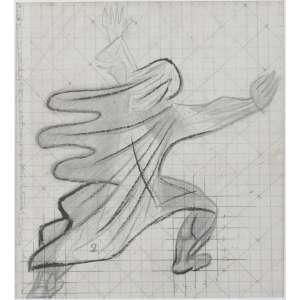 Candido Portinari <br />Figura, grafite e crayon sobre papel vegetal Desenho para ampliação para o painel de azulejos São Francisco de Assis - Registro FCO 2474.<br />28 x 26 cm. Autenticado lateral esquerda- Desenho de Candido Portinari autenticado por Maria Victoria Portinari e reproduzido no catálogo Raisonné, volume II, página 429, sob o n. 1973 FCO 173.