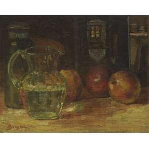 Aldo Bonadei<br />Natureza Morta, óleo sobre tela colada em cartão, assinado inferior esquerdo, 25 x 31 cm.