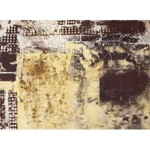 Carlos Vergara<br />Monotipia, e pigmentos sobre lona crua, assinado e datado 2002 no verso, 130 x 180 cm.