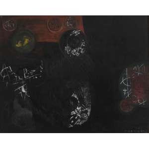 Fernando Odriozola<br />Sem título, acrílica sobre cartão colado sobre placa, assinado e datado 1981 inferior direito, 26 x 32 cm. (No estado)