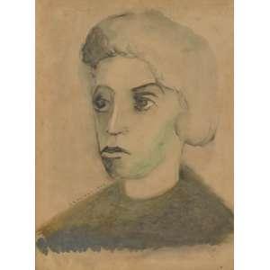 Clovis Graciano<br />Figura Feminina, aquarela sobre papel, assinado e datado, 1944 inferior esquerdo, 35 x 26 cm.