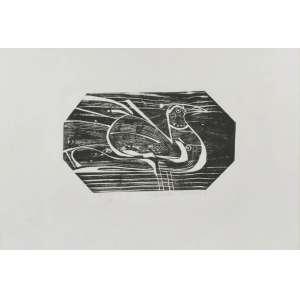 Aldemir Martins<br />Pássaro, xilogravura, assinado e datado 88 inferior direito, numerada P.A. II/IV, inferior esquerdo.<br />35 x 50 cm.