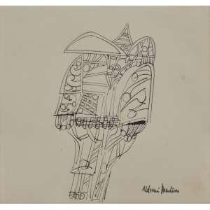 Aldemir Martins<br />Cangaceiro, década de 1960, nanquim sobre papel, assinado inferior direito, 11,5 x 11,5 cm. Sem moldura.