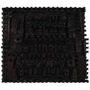Hugo Rodrigues<br />Escultura em madeira, assinada, datada 31-VII-74 e situada SP no verso, 82 x 96 x 20 cm.<br />Coleção David Libeskind.<br /><br />