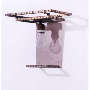 Joaquim Tenreiro <br />Arandela em latão Década de 1960, Coleção David Libeskind. Sem os vidros.