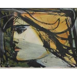 Augusto Rodrigues<br />Perfil de mulher, gravura, assinada e datada 1976 inferior direito, prova do artista inferior esquerdo, 28 x 36 cm.
