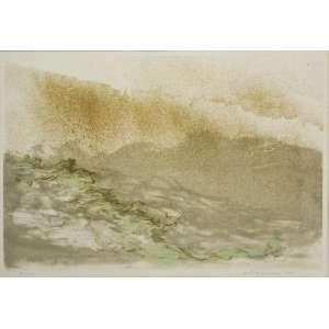 Fayga Ostrower<br />Litogravura, assinada e datada 1980 inferior direito, numerada 15/100 inferior esquerdo 40 x 57 cm.