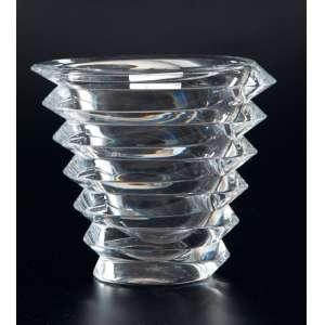 Massa de cristal moderno transparente no formato oblongo gomado - 20 alt. x 20cm diâm. Baccarat - França