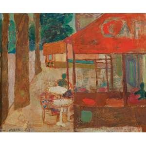 Pierre Le Sueur - Café - o.s.t. - 54 x 65cm