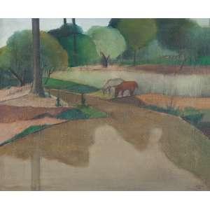 Pancetti, José - Paisagem com cavalos - Campos do Jordão - o.s.t. - 54 x 65cm - acid - 1944