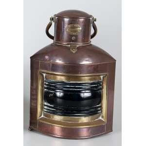 Lanterna de barco de metal dourado com alça - 30 x 26cm - York House 15 Regent´S – London