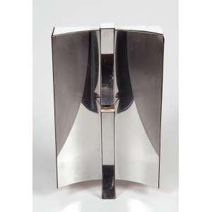 Yutaka Toyota - Espaço 77 - nº 1/20 - escultura de madeira e alumínio anodizado - 18 x 31cm