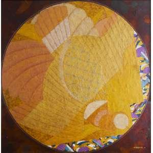 Kazuo Wakabayashi – Pássaros. Técnica mista sobre tela, 100x100 cm, 2008, ACID.