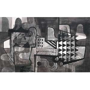 Burle Marx, Roberto – Sem título. Panneaux, 94x151 cm, 1986, ACID.