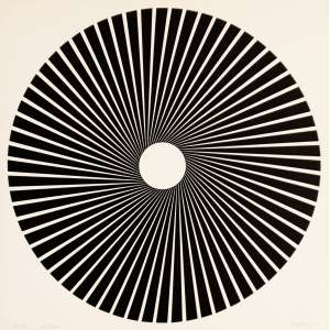Ludwig Wilding - KS25. Serigrafia - 197/230, 28x28 cm, 1968, ACID. Sem moldura.<br />