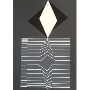 Victor Vasarely - Sem título. Serigrafia - 226/650, 29x20,5 cm, sem data, ACID. Sem moldura.<br />