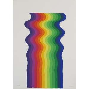 Julio Le Parc - Sem título. Serigrafia - 47/100, 35x25 cm, 1971, ACID. Sem moldura.<br />