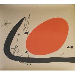 Joan Miró - Sem título. Litografia em papel especial, 69x77 cm, ACD (na pedra litográfica). Sem moldura.<br />